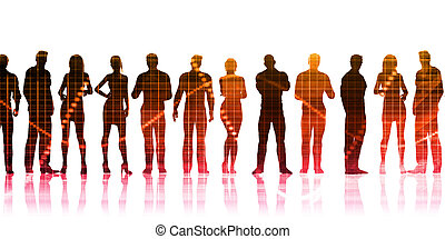 Silhoutte of Business People