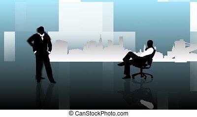 silhouttes, même, travail, homme affaires, difeerent