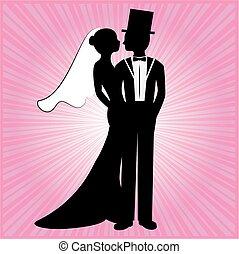 silhuet, 7, bryllup