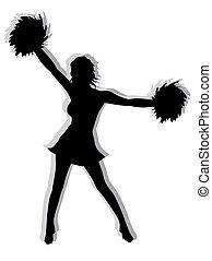 silhuet, cheerleader