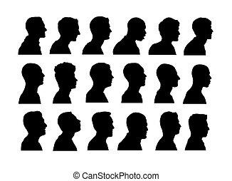 silhuetas, avatar, anônimo