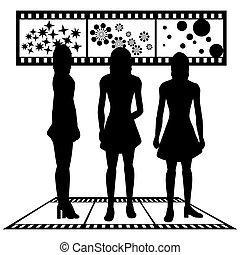 silhuetas, mulheres
