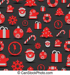 silhuetas, natal, fundo, seamless