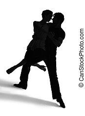 silhuetas, tango, /