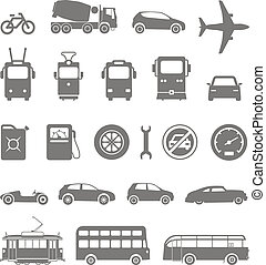 silhuetas, transporte urbano