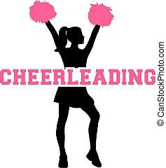 silhuett, cheerleading