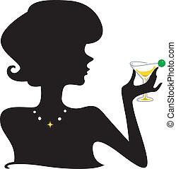 silhuett, cocktail