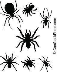 silhuett, spindlar