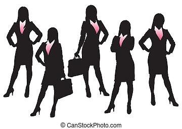 silhuetter, branche kvinde