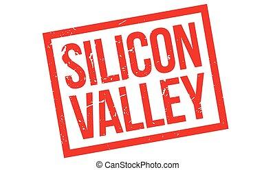 silicio, caucho, valle, estampilla