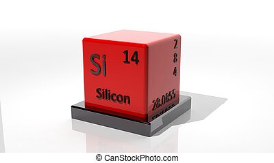 Silicon, 3d chemical element of the periodic