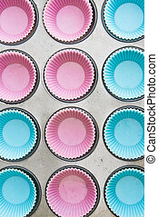 Silicon cup cake moulds
