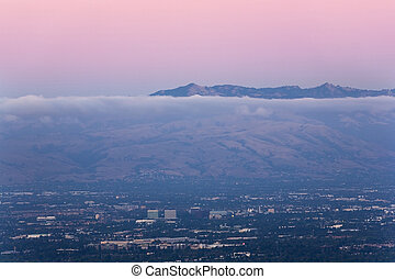 Silicon Valley at Dusk - San Jose, the heart of Silicon...