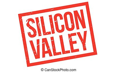 Silicon Valley rubber stamp on white. Print, impress,...