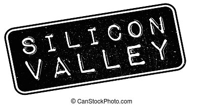 Silicon Valley rubber stamp on white. Print, impress, ...