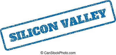 Silicon Valley Rubber Stamp - Blue rubber seal stamp with...