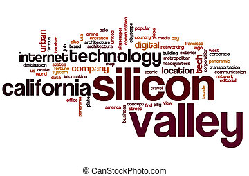 Silicon valley word cloud concept