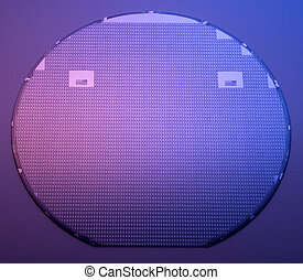 Silicon wafer - Whole silicon wafer used as a starting point...