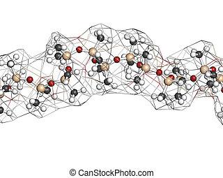 silicona, aceite, (polydimethylsiloxane, pdms), silicona,...