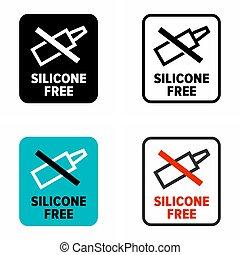 """""""silicone, cosmétique, composés, produits, free"""""""