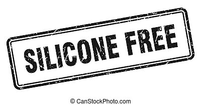 silicone free stamp. square grunge sign on white background