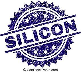 silicone, selo, textured, grunge, selo