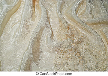 Silk and lace - A background of sensuous silk and old lace