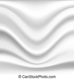 Silk background - Abstract wavy silk background in white...