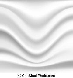 Silk background - Abstract wavy silk background in white...