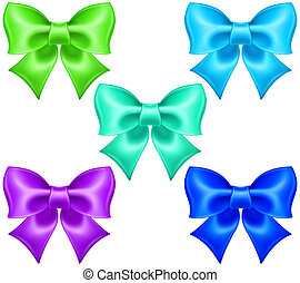 Silk bows in cool colors