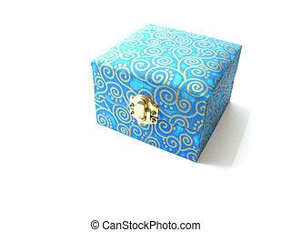 silk box isolated on white background