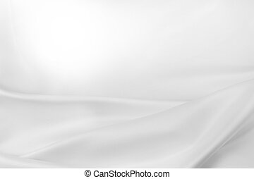 Closeup of rippled silk fabric. Advertising copy space