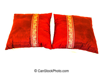 Silk cushion cover made from Thailand.