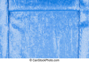 Silk fabric texture, background. Covered with sequins, blue
