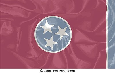 Silk Flag of Tennessee