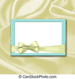 silk background with blank invitation