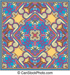 silk neck scarf or kerchief square pattern design in...
