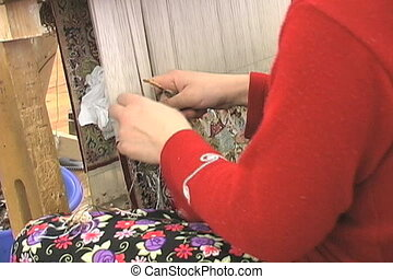 silk carpets - Silk on silk carpets which are hand made and...