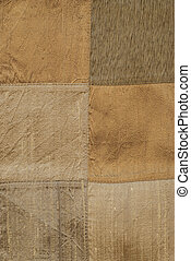 Silk patchwork elements