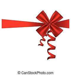 silk red ribbon and bow wrapping decorative