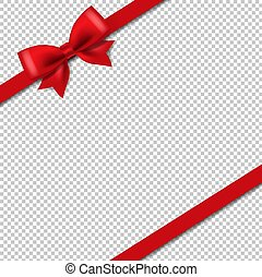 Silk Red Ribbon Isolated Transparent Background