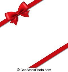 Silk Red Ribbon Isolated White Background