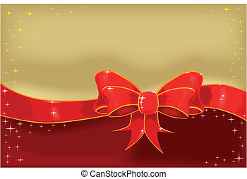 Silk Ribbon and Bow - A red silk ribbon tied into a bow...