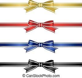 Silk Ribbons Set, Vector Illustration