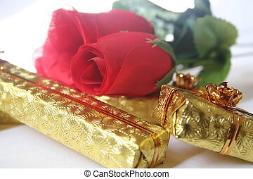 roses and gold