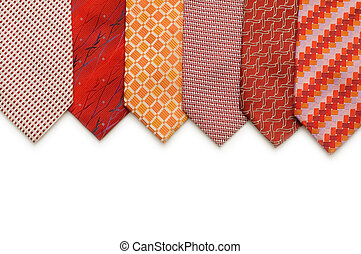 Silk ties isolated on the white background