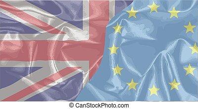 Silk UK And EU Flags