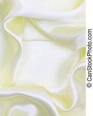 silke, slät, elegant, gul