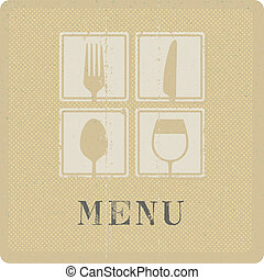 silkscreen print of menu cover