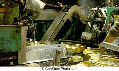Silkworm cocoon at silk factory.